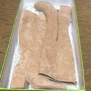 Sam Edelman Thora Oatmeal Suede knee boots sz 8